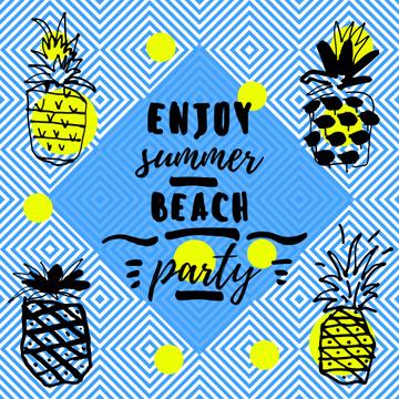 Summer beach party invitation