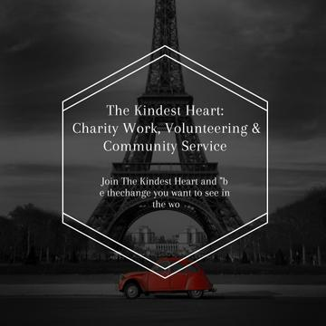 Charity Community promotion on Eiffel Tower view