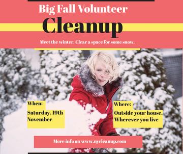 Woman at Winter Volunteer clean up