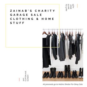 Charity Garage Ad with Wardrobe