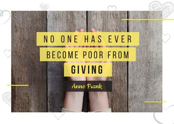 Citation about no one is poor