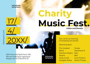 Music Fest Invitation Crowd at Concert