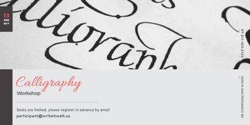 Calligraphy workshop Invitation