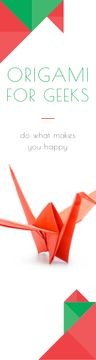 Origami Classes Invitation Paper Crane in Red