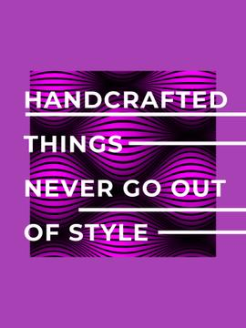 Handcrafted things Quote on Waves in purple