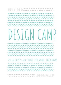Design camp announcement on Blue waves