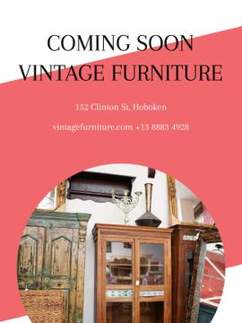 Vintage Furniture Shop Ad Antique Cupboard