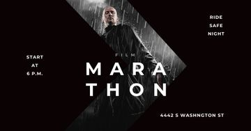 Marathon Movie with Actor under Rain