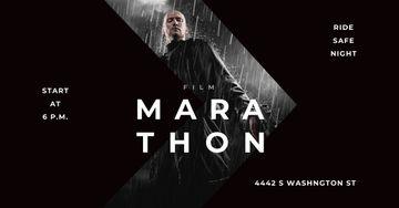 Marathon Movie with Actor under Rain