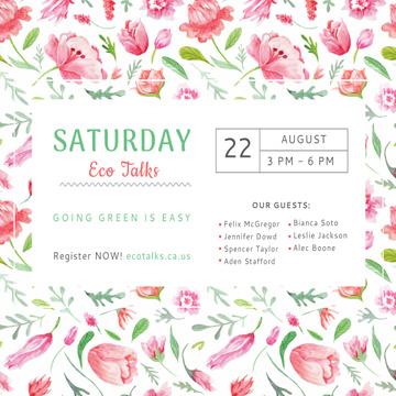 Saturday eco talks Invitation