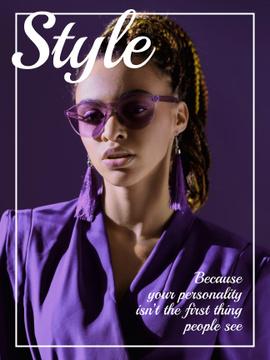 Beautiful stylish woman in sunglasses