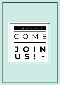 Job Vacancy Announcement in Blue