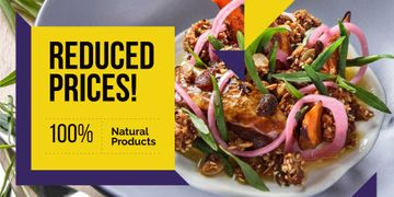 Reduce prices for natural foods restaurant