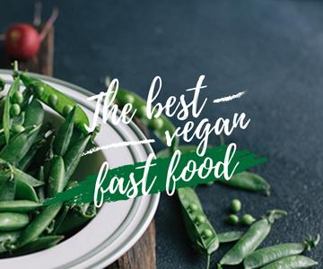 best vegan fast food poster with peas