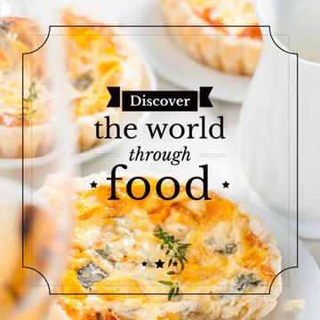 Food Inspiration Quote with tasty pie