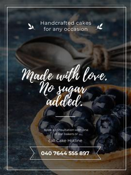 Bakery Ad with Blueberry Tart