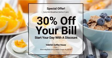 Discount card for early breakfast