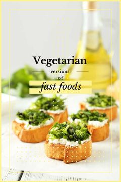 Vegetarian Food Recipes Bread with Broccoli
