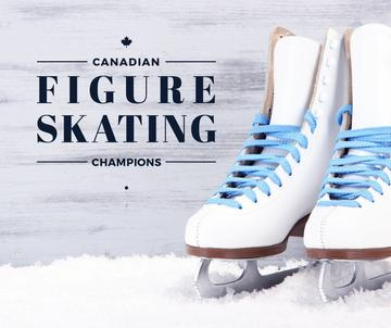 Figure Skating guide Pair of Skates