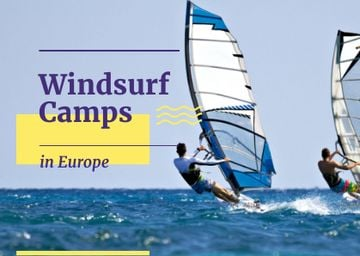 Windsurf camps in Europe poster