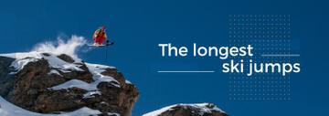 Ski Jumping Inspiration Man Skiing in Mountains