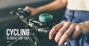 Cycling Motivation with Woman holding handlebar