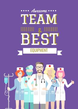 Professional team of medical staff