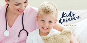 Kids Healthcare with Pediatrician Examining Child