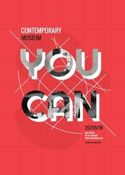Contemporary museum exhibition poster
