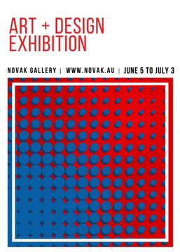 Art Exhibition announcement Contrast Dots Pattern