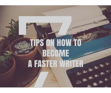 Writing Tips with Vintage Typewriter at workplace