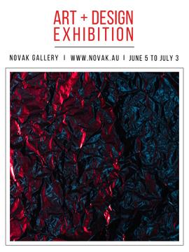 Art Exhibition announcement Contrast Dots Pattern