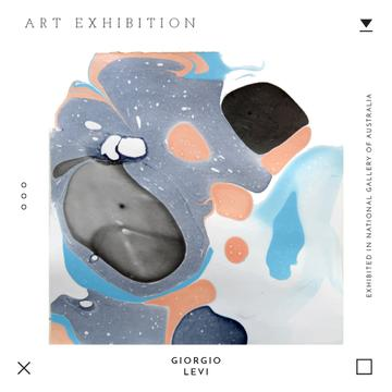 Art exhibition Ad with Texture blots