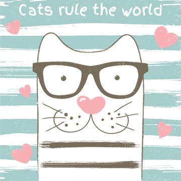 Cute Cat in Glasses