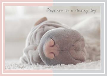 Cute Sleeping dog card
