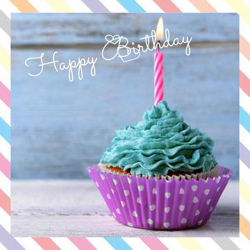 Birthday Greeting card with Sweet Cake