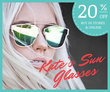 Fashion Accessories Ad Stylish Girl in Sunglasses