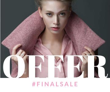 Fashion Ad Woman in winter Coat