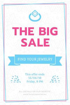 Jewelry Sale Advertisement with Shiny Chrystal