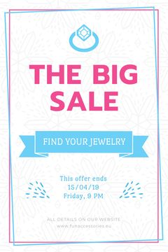 Jewelry Sale Advertisement Shiny Chrystal