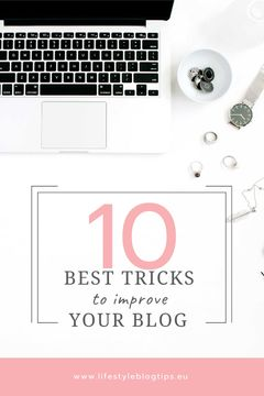 Blogging Tips Laptop on Working Table