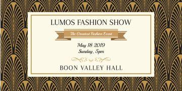 Lumos fashion show poster