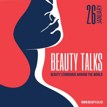 Beauty talks Ad with Woman Silhouette