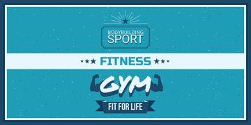 Fitness gym advertisement