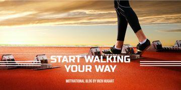 Sports motivation blog banner