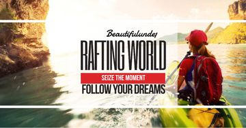 Rafting world with Girl in boat