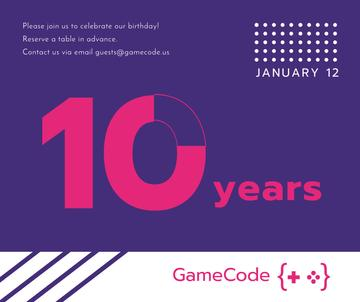 Video Games company anniversary