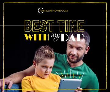 Parenting Tips Father with Son Using Tablet