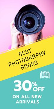 Photography books sale advertisement