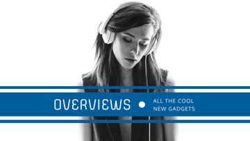 Headphones Ad with Woman Listening Music